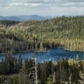 Looking down on Big Bear Lake.- Bear Lakes Loop via Round Lake
