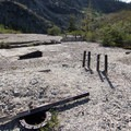 Remnants of the Round Lake Gold Mine.- Bear Lakes Loop via Round Lake
