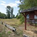 Conboy Lake National Wildlife Refuge visitor parking area off of BZ Glenwood Highway.- Conboy Lake National Wildlife Refuge