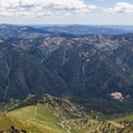 Looking south into the North Fork of the Yuba River watershed from the summit.- Sierra Buttes Trail