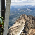 A summit memorial.- Sierra Buttes Trail