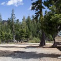 The trailhead parking for the Sierra Buttes Trail.- Sierra Buttes Trail