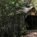 The old Oregon Creek Covered Bridge is closed to cars but open to pedestrians.- Oregon Creek Day Use Area