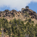 The Sierra Buttes Fire Lookout.- Sierra Buttes Fire Lookout