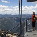 The view southeast toward the Tahoe Basin.- Sierra Buttes Fire Lookout