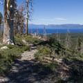 Lake Tahoe views along the lower trail.- Cathedral Lake