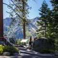 The vista is a popular tourist stop during summer months.- Inspiration Point