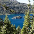 Inspiration Point sits 600 feet above Emerald Bay's southern shore.- Inspiration Point