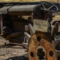 Old tractor at Deer Hollow Farm.- Lower Meadow Trail to Deer Hollow Farm
