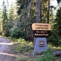 Timpanogas Campground in the Willamette National Forest.- Timpanogas Campground