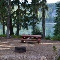 Typical campsite in Timpanogas Campground.- Timpanogas Campground