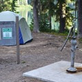 Water pump in Timpanogas Campground.- Timpanogas Campground