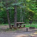 Typical campsite in Sacandaga Campground.- Sacandaga Campground