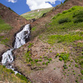 Waterfall right above the creek crossing.- Angel Pass