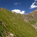Angel Pass toward Augusta Mountain.- Angel Pass