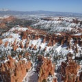 View into the Bryce Amphitheater from the park's Rim Trail.- Bryce Canyon Rim Trail, Sunset to Bryce Point