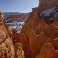 View into Bryce Canyon's Silent City from Sunset Point.- Navajo + Queen's Garden Loop Trail