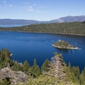 Vikingsholm is located within spectacular Emerald Bay State Park.- Vikingsholm