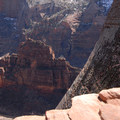 View of The Organ from the Rim Trail.- Angels Landing Hike