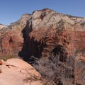 View north to Observation Point from the Angels Landing Trail.- Angels Landing Hike