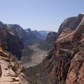 Zion Canyon from Angels Landing.- Angels Landing Hike