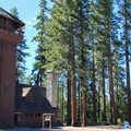 A former water storage tower now serves as the park's Nature Center.- Sugar Pine Point State Park