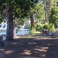 Picnic areas near the beach.- Sugar Pine Point State Park
