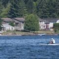 Rower out on Lake Sammamish.- Lake Sammamish State Park