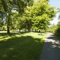 Picnic area and lawn near Tibbetts Beach.- Lake Sammamish State Park
