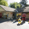 Concession stand and kayak rental at Tibbetts Beach.- Lake Sammamish State Park