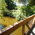Footbridge over Issaquah Creek.- Lake Sammamish State Park