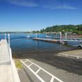 Boat ramp area at Lake Sammamish State Park.- Lake Sammamish State Park