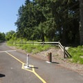View of the East Lake Sammamish Trail from Lake Sammamish State Park.- Lake Sammamish State Park