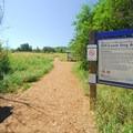 Access into Marymoor Park's off-leash dog area from the Heron Loop Trail.- Marymoor Park