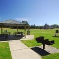 Picnic shelter near Marymoor Park's velodrome.- Marymoor Park