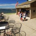 Houghton Beach Park concession stand.- Houghton Beach Park