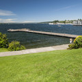 David E. Brink Park and Lake Washington.- David E. Brink Park