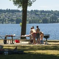 O. O. Denny Park and Lake Washington.- O. O. Denny Park