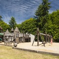 Saint Edward State Park playground.- Saint Edward State Park