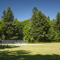 Saint Edward State Park baseball/sports field.- Saint Edward State Park
