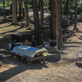 Typical campsite.- Bayview Trailhead Campground
