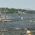 Matthews Beach Park and Lake Washington.- Matthews Beach Park
