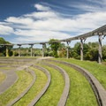 The Magnuson Community Garden amphitheater.- Warren G. Magnuson Park