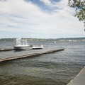 Boat ramp access to Lake Washington at Warren G. Magnuson Park. - Warren G. Magnuson Park