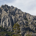 An unnamed, highly featured granite peak above the Eagle Lake Trail.- Eagle Lake