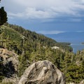 Storm brewing over South Lake Tahoe and Emerald Bay.- Eagle Lake