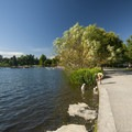 Green Lake and its 2.8-mile loop trail.- Green Lake Park