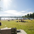East Green Lake beach and swimming area.- Green Lake Park