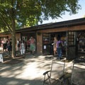 Summer concession stand and the Green Lake boat rental shop.- Green Lake Park