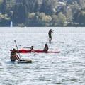 Paddlers on Green Lake.- Green Lake